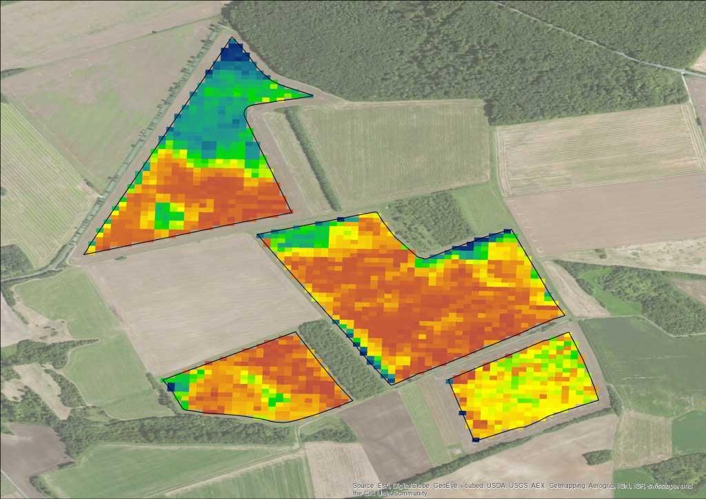 Wie unterschiedliche die Ertragszonen auf Feldern ausfallen können, zeigt erst die Visualisierung.