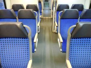 Freie Sitzplätze im Zug