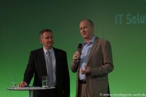 Günter Schwaninger, Deutsche Bahn, im Talk mit Moderator Hannes Rügheimer
