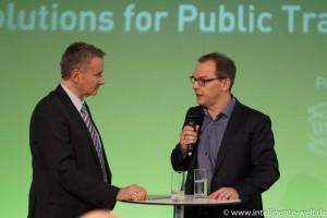Dr. Norbert Koppfenhagen, SAP, im Gespräch mit Moderator Hannes Rügheimer