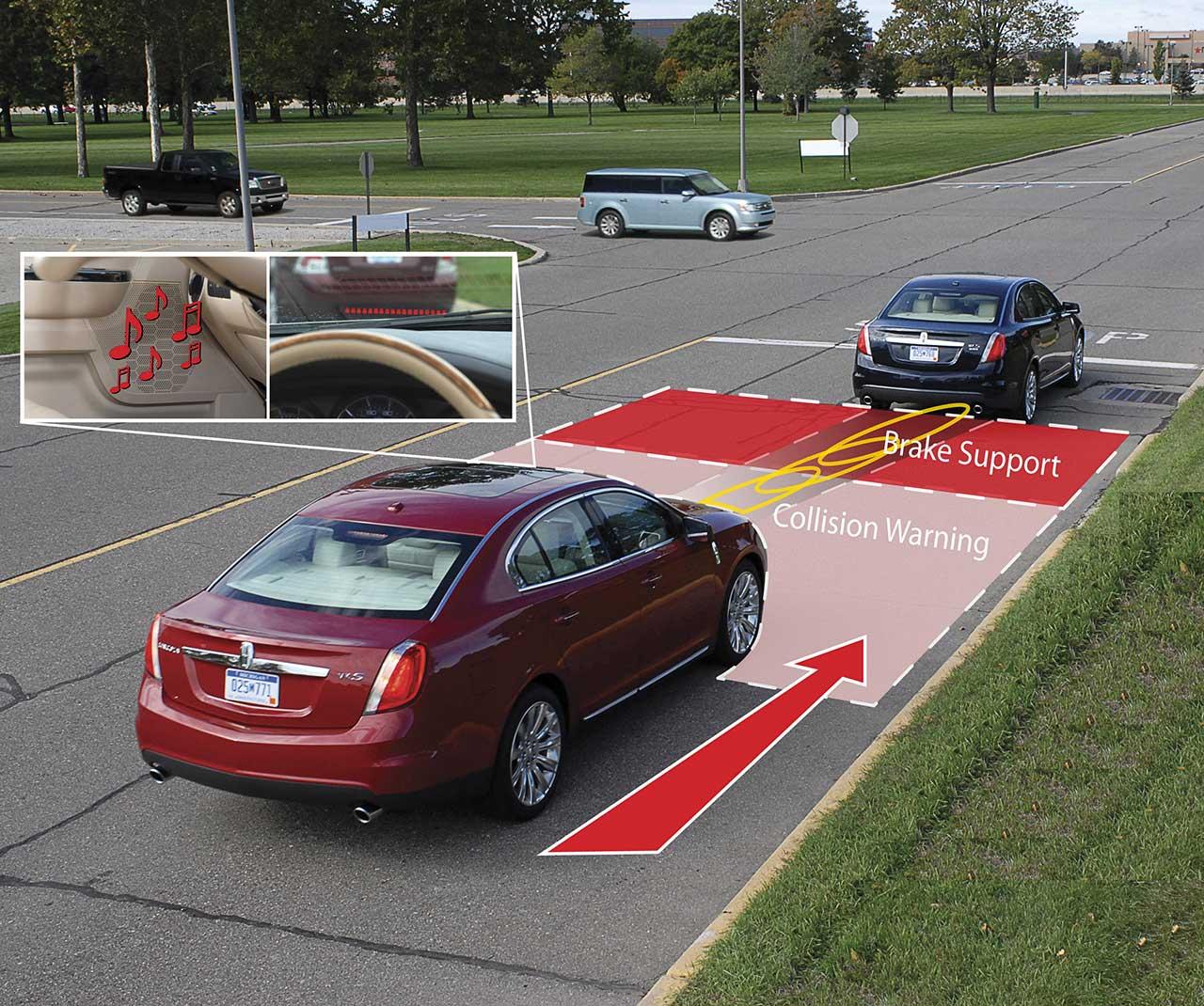 In günstigen Fahrzeugen basiert die Kollisionswarnung bisweilen allein auf einer Stereo-Kamera. (C) Ford Motor Company, USA CC BY 2.0