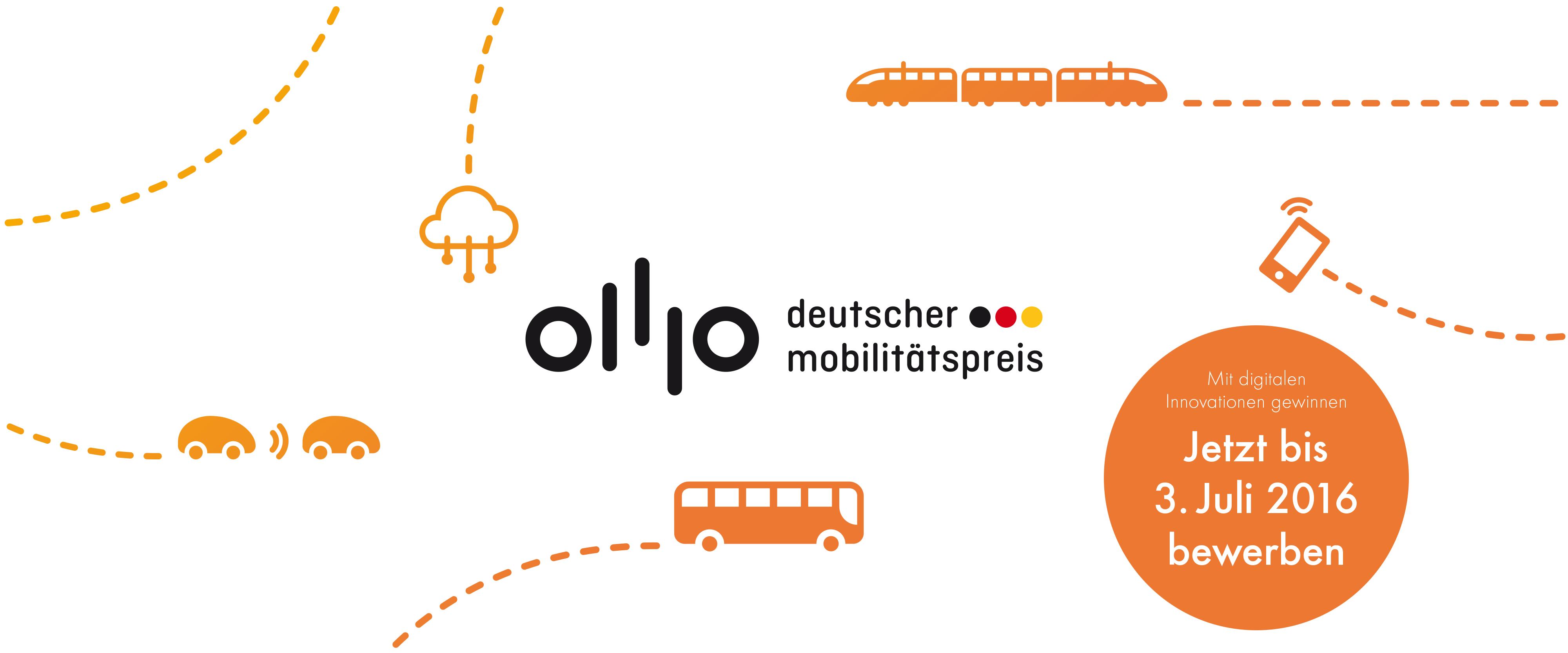 """Die Initiative """"Deutschland – Land der Ideen"""" und das Bundesministerium für Verkehr und digitale Infrastruktur suchen die besten digitalen Innovationen für intelligente Mobilität."""