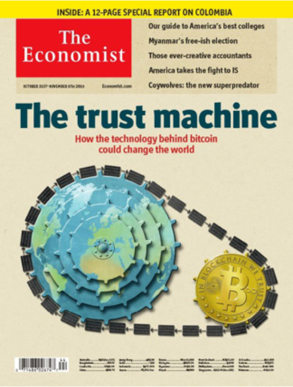 "Ende Oktober 2015 titelte The Economist: ""The trust machine"""