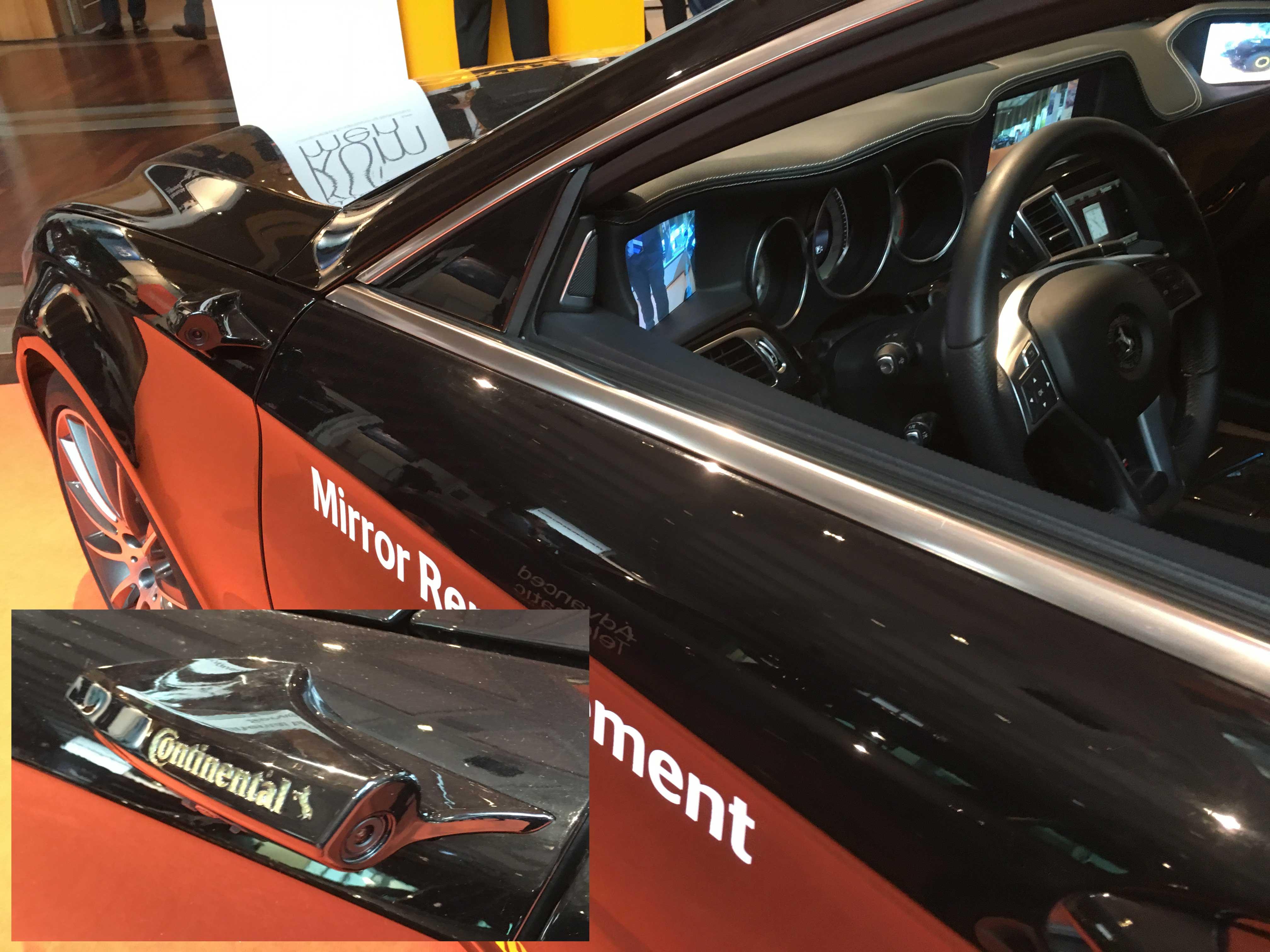 Wie ein künftiges Auto ohne Spiegel aussehen könnte, und was man davon hat, zeigt Continental.