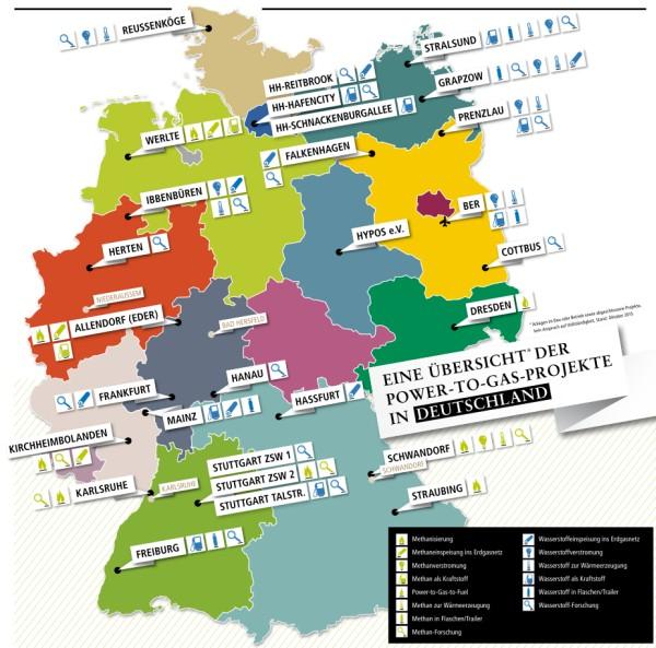 Power-to-gas-Projektelaufenin immer mehr Gebieten in Deutschland. (C) DVGW