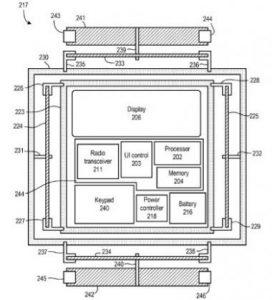 Nokia-Patent: Bewegliche Teile in einem Handy sorgen durch Bewegungsenergie für Strom. (C) USPTO
