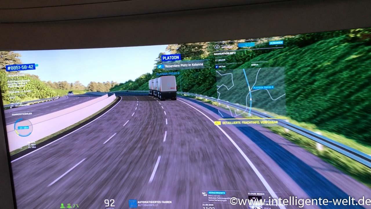 Platooning – das automatisierte Kolonnenfahren – soll dazu beitragen, den Kraftstoffverbrauch von Lastkraftwagen zu senken.