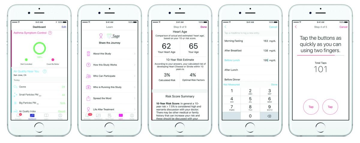 Apple treibt den Bereich E-Health an und bietet bereits viele Medizin-Apps für seine iPhones. (C) Apple