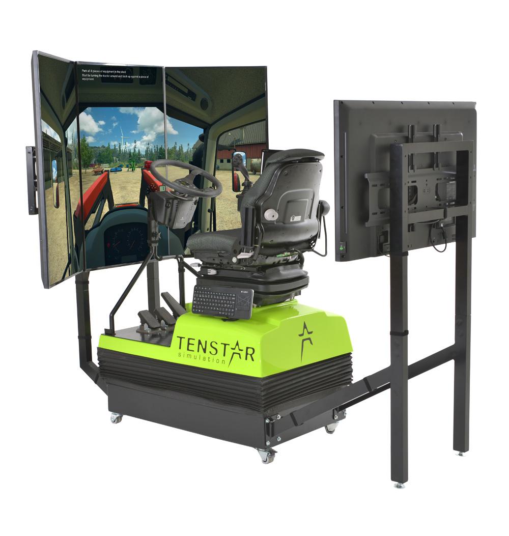 Der Simulator von Tenstar vermittelt den Umgang mit großen und schweren Spezialfahrzeugen oder Maschinen.