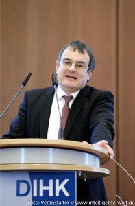 Vortrag Prof. Dr. Florian Faust, Veranstaltung Datenökonomie DIHK / Foto: Jens Schicke