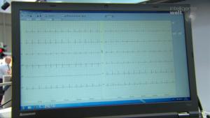 EKG-Messwerte könnten etwa vom häuslichen Pflegedienst erfasst und dann zur Auswertung an ein Telemedizinzentrum übertragen werden.