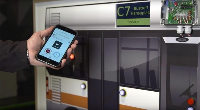 Beim Projekt Ivanto kommuniziert das Smartphone mit öffentlichen Verkehrsmitteln