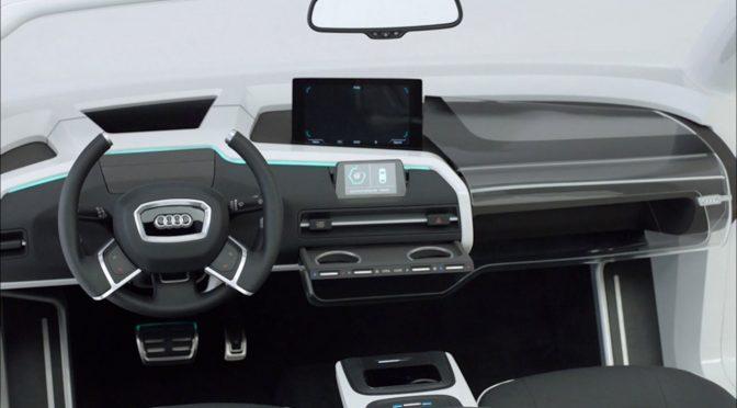 """In seiner Konzeptstudie """"James 2025"""" präsentiert Audi seine Idee vom Cockpit der Zukunft."""