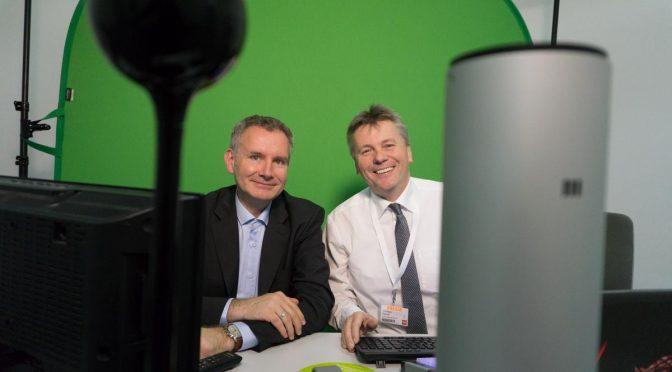 Livesendung CeBIT - Intelligente Welt mit Hannes Rügheimer und Christian Spanik