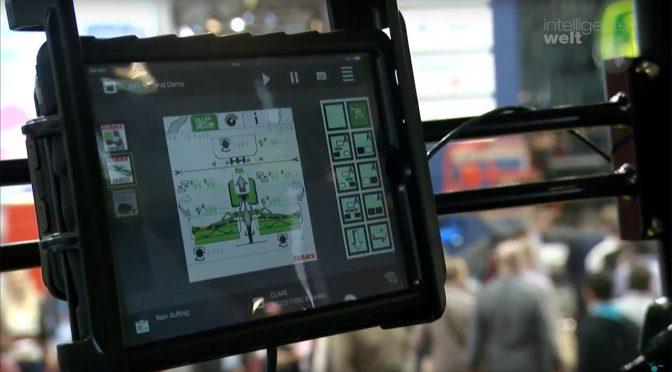 """Mit der App """"Easy on board"""" und handelsüblichen Tablets ersetzt Anbieter Claas das sonst erforderliche Isobus-Terminal."""