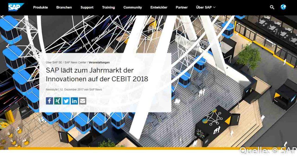 SAP bringt ein Riesenrad auf die CEBIT 2018