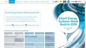 Smart Energy Systems Week Austria 2018