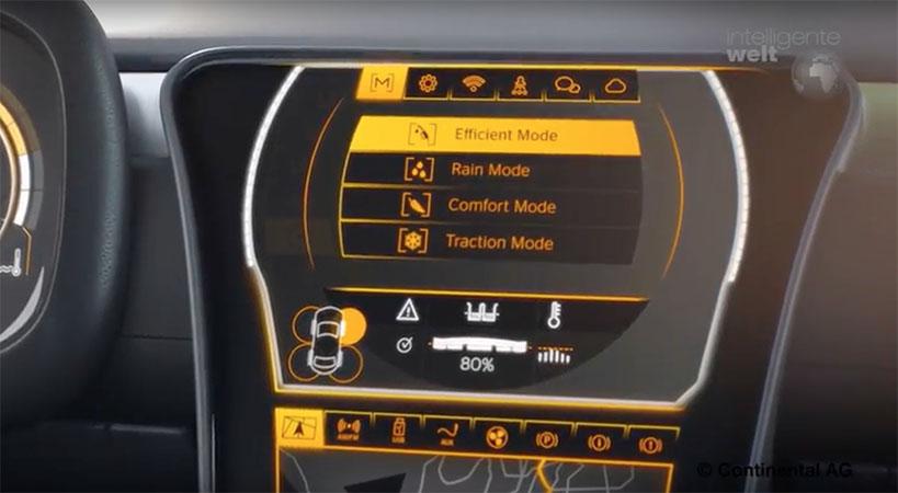 Nach Vorstellung von Conti hat der Fahrer künftig die Wahl zwischen mehreren Betriebsarten seiner adaptiven Reifen.