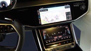 Für die haptischen Bedienelemente setzt der Audi A8 komplett auf Touchscreens. Zusätzlich unterstützt er aber auch eine intelligente Spracherkennung.