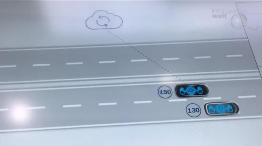 """Bei guten Wetter- und Straßenbedingungen kann das System auch """"freie Fahrt"""" signalisieren."""