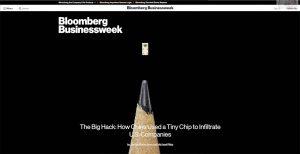 Mit diesem Beitrag schrecke Bloomberg Businessweek IT- und Sicherheits-Experten auf.