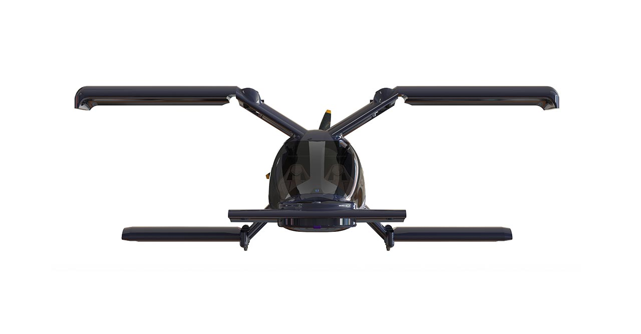 Der Klappflügler X-1 des Dresdener Start-ups Flügel Aeronautics setzt auf Hybridantrieb und erreicht damit besonders hohe Reichweiten – bis zu 600 Kilometer. Bild: Flügel Aeronautics