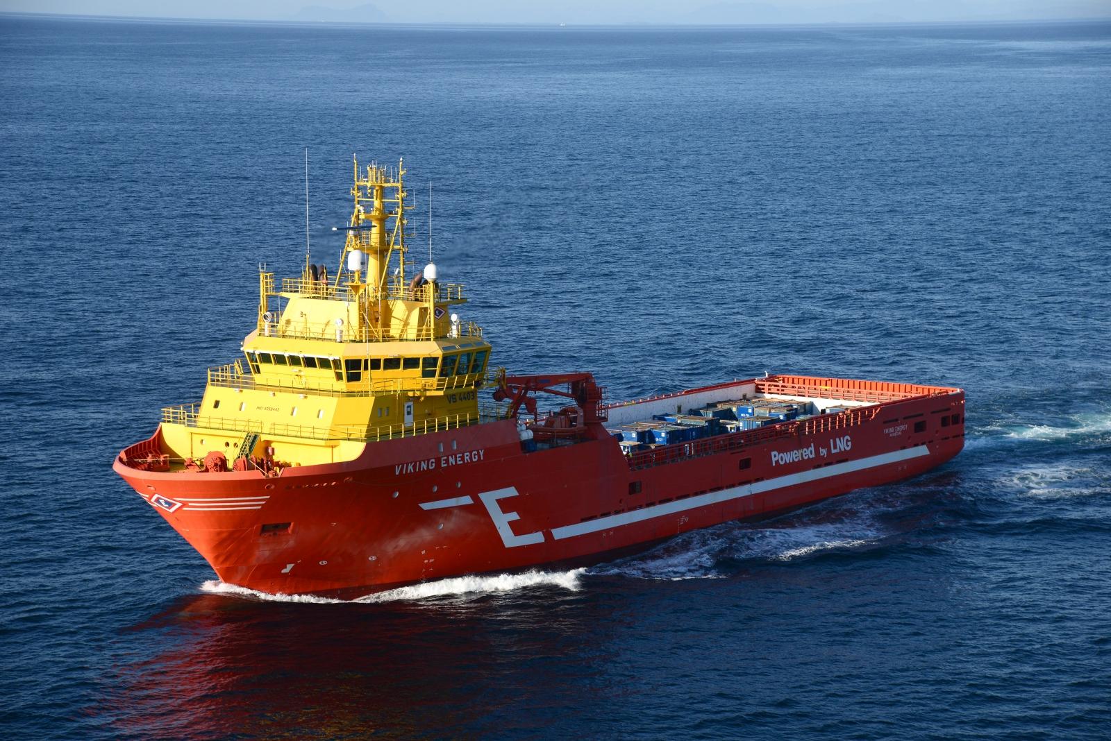 Die Viking Energy soll als erstes Schiff mit Wasserstoff betrieben werden, der an Bord aus Ammoniak gewonnen wird. Bild: Eidesvik