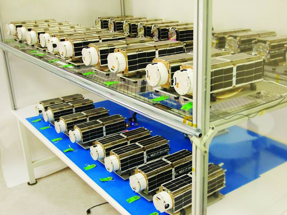 Die Nanosatelliten vom Typ Dove wurden buchstäblich in der Garage gebaut.