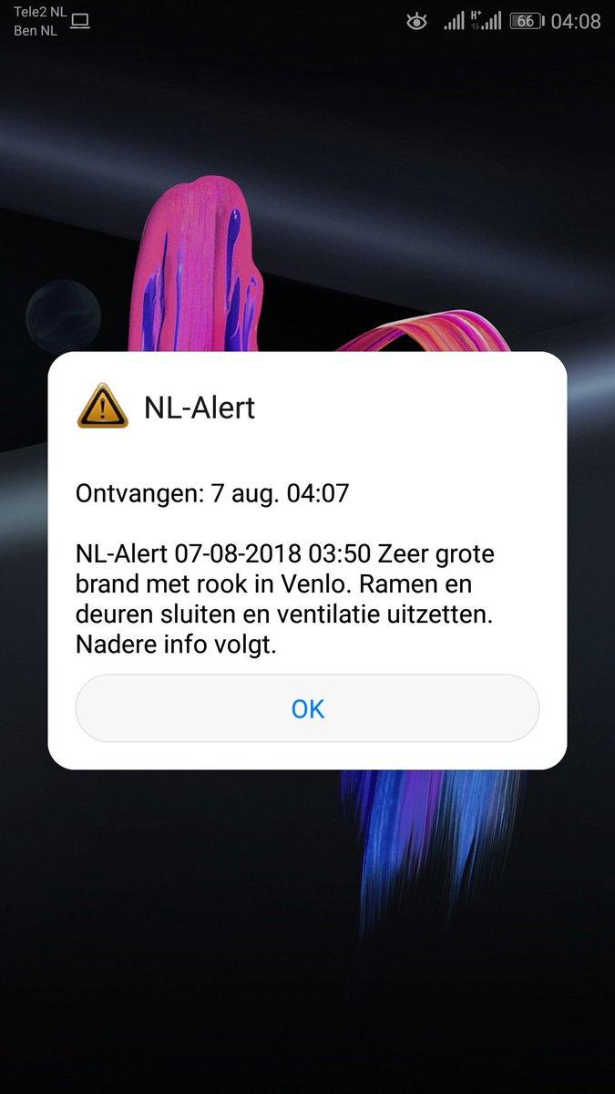 In anderen Länder, wie hier in den Niederlanden, wird Cell Broadcast längst für den Katastrophenschutz eingesetzt.