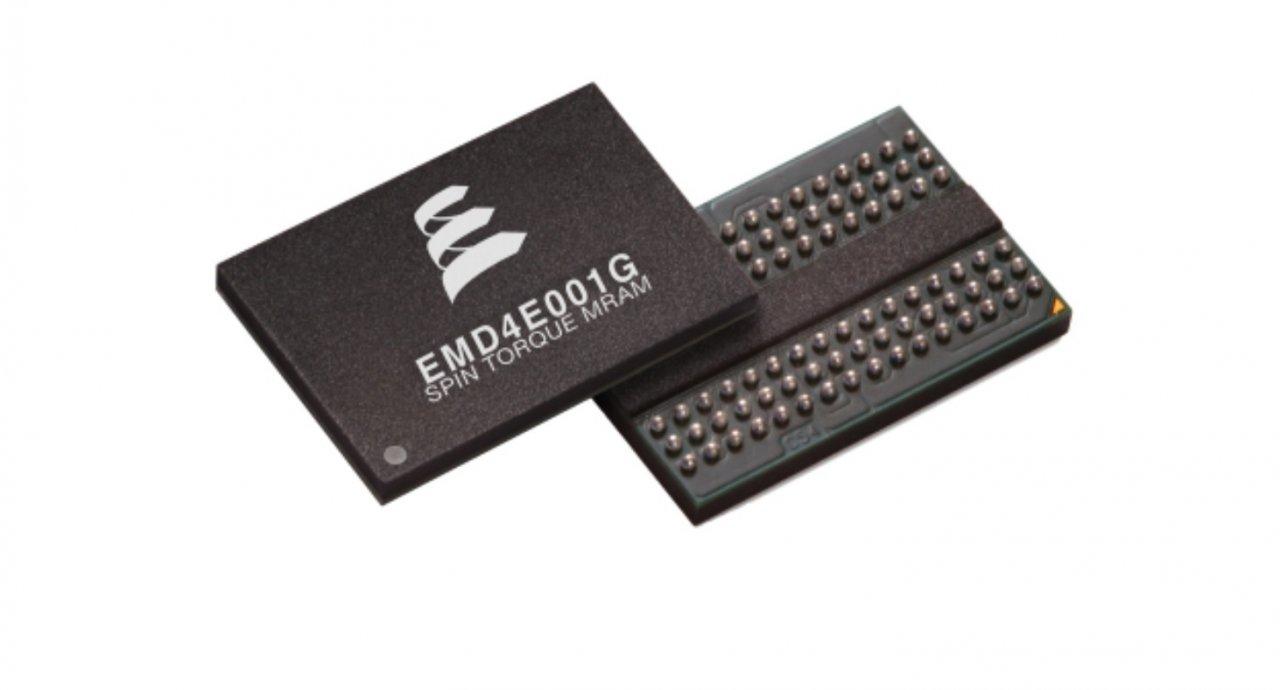 M-RAM-Baausteine, wie dieser von Everspin nutzen die Spintronic für schnelle und energiesparende Datenspeicherung.